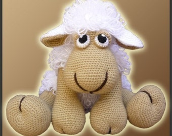 Amigurumi Pattern Crochet Elton Sheep Doll DIY Digital Download