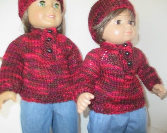 chocolate and cherry sweater set
