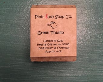 Green Thumb-  Gardening Soap- All natural- handmade- Homemade- Soap- Infusion- Green- bathing- Shower- Sensitive- Skin- Bubbles