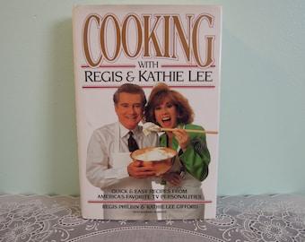 Cooking with Regis & Kathie Lee Cookbook - Cookbook - Book - Vintage Book - Kitchen - Gift For Her - Gift For Mom - Regis - Kathie Lee