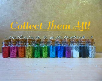 Glitter Sparkly Pixie Dust Bottle Pendant Necklace (Adorable Party Favors!)