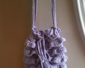 Patterns, Crochet Patterns, Handbags, Totes, Bags, Crochet , Round, Ruffles, Accessories, Women, Girls