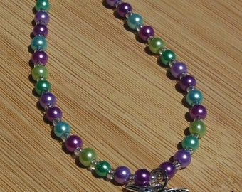 Hummingbird Bracelet, Bird Jewelry, Animal Jewelry, Whimsical Jewelry, Bird Charm Jewelry