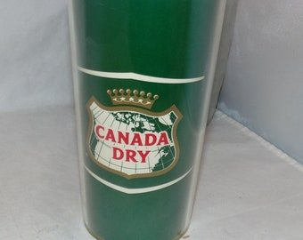 Vintage Canada Dry Thermo-Serv green Plastic cup Made in USA Bar display
