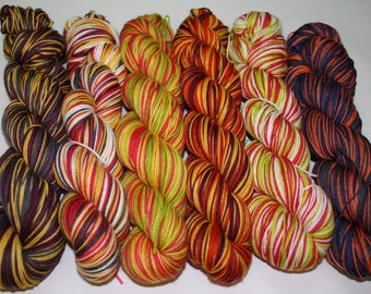 Design Your Own Self Striping Hand Dyed Sock Yarn
