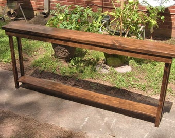 Exceptional 60 Rustic Console Table Extra Narrow Sofa Table Entryway