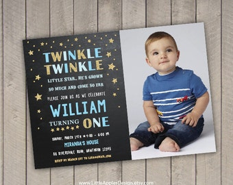 Twinkle Twinkle Little Star Invitation / twinkle twinkle birthday invitation / twinkle star invitation / twinkle twinkle birthday / Photo