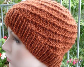 Pure Wool & Bamboo Swirl Hat  -  1347