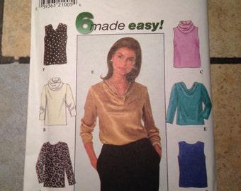 Simplicity 7884 Size 18, 20, 22 Misses' Top Pattern UNCUT