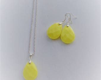 set drop yellow (925 silver plated)