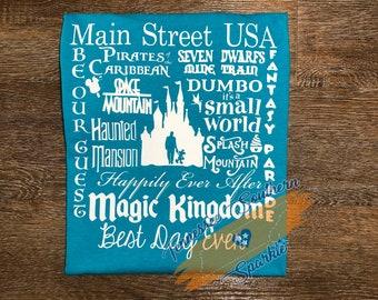 Disney Tank | Magic Kingdom Tank | Racer Back Tank | Walt Disney World | Disney World