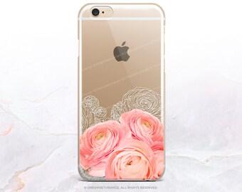 iPhone 8 Case iPhone X Case iPhone 7 Case Ranunculus Clear GRIP Rubber Case iPhone 7 Plus Clear Case iPhone SE Case Samsung S8 Case U188