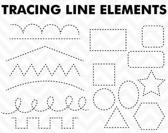 Clipart Tracing Elements Trace Lines Teacher Clip Art  Commercial Use