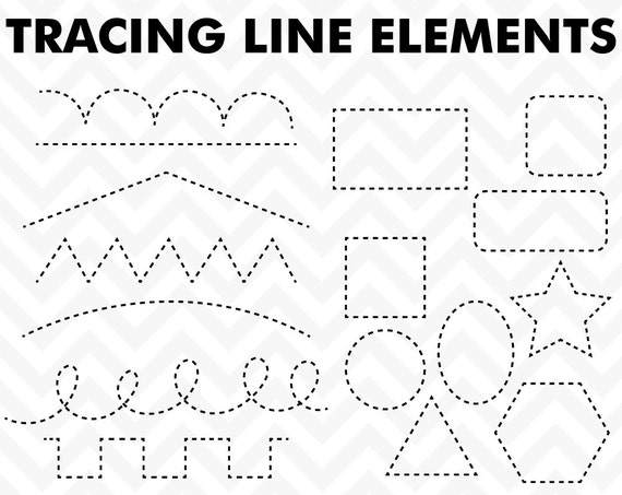 clipart tracing elements trace lines teacher clip art. Black Bedroom Furniture Sets. Home Design Ideas