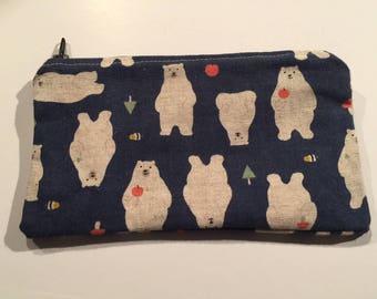 Handmade Bear Pattern Pouch