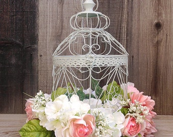 Wedding Birdcage Card Holder, Wedding Card Holder, Birdcage Decor, Bridal Shower Birdcage, Party Card Birdcage, Floral Wedding Birdcage
