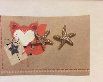 Glitter starfish earrings