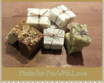 Naturally scented home made soap bars - choice of Raw Honey & Beeswax, Calendula or Lavender