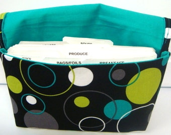 Coupon Organizer /Budget Organizer Holder-Attaches to Your Shopping Cart - Lagoon Hoopla Dot Lagoon