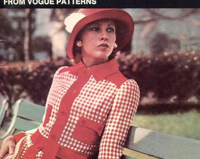 FREE US SHIP Vogue Book  Everything about Sewing Fitted Garments Vintage Retro 1970's 70's 1972 Sewing Pattern Booklet
