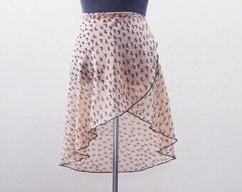 SIZE L - ladies ballet skirt - Ballet wrap skirt - Sarong - Dance Skirt - Ballet crossover skirt - Chiffon ballet skirt - cat lover gift