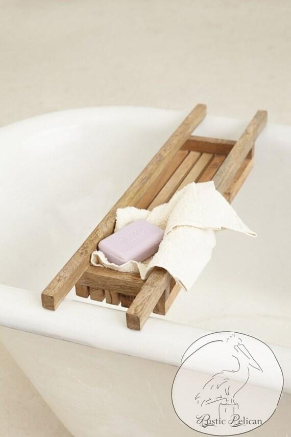 Rustic Bath Tray Shower Caddy Farmhouse style
