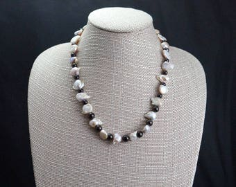 Freshwater Pearl with Garnet