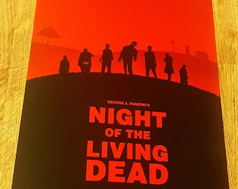Night of the living dead metal poster