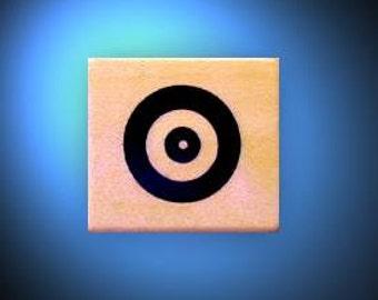 TARGET, bullseye Mounted rubber stamp, archery, axe throwing, pellet gun, shooting, lumberjack, timber sports No.14