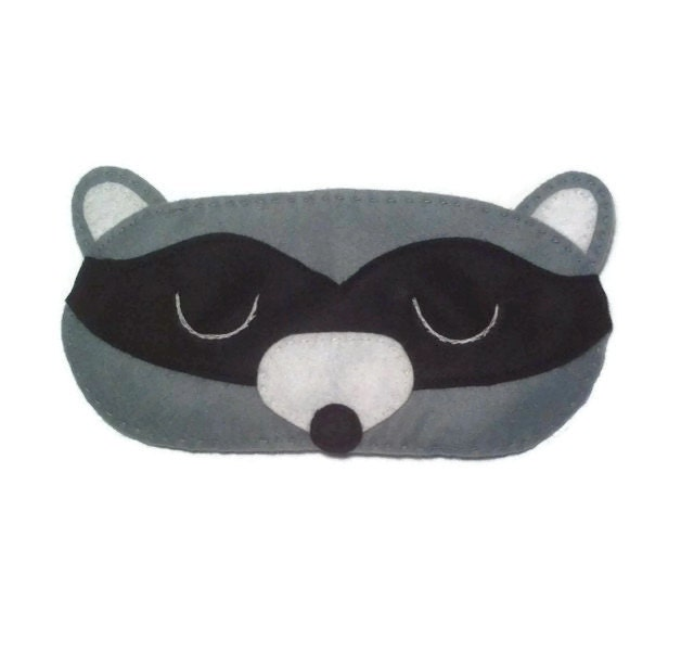 Antifaz de mapache mapache sue o m scara antifaz para dormir - Patron masque de nuit ...