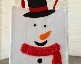 Bag of Christmas snowman themed kids