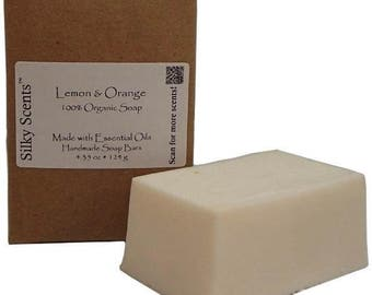 Lemon & Orange Soap Bar - Made with Organic Ingredients and Pure Essential Oils