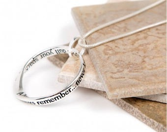 Dull Sparkle Message slogan necklace perfect gift (Always remember...never let anyone dull your sparkle...)
