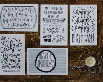 "Birthday 4""x6"" Greeting Card Set of 5"