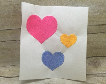 5 Sizes Heart Embroidery Design, Small Heart Embroidery Design