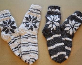 Hand Knit 100% Sheep Wool Socks