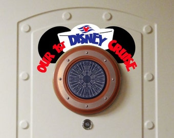 Our First Cruise Porthole Ears - Disney Cruise Magnet