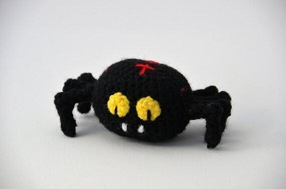 Halloween Amigurumi Crochet Pattern : Vampire spider crochet pattern amigurumi spider pattern halloween