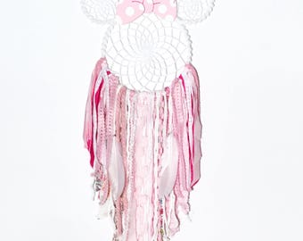 Minnie Mouse, light pink, princess, nursery, pink and white, posh pax designs, Dream catcher