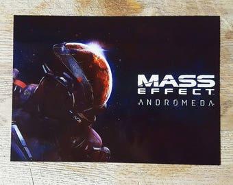 Mass effect andromeda metal poster print.
