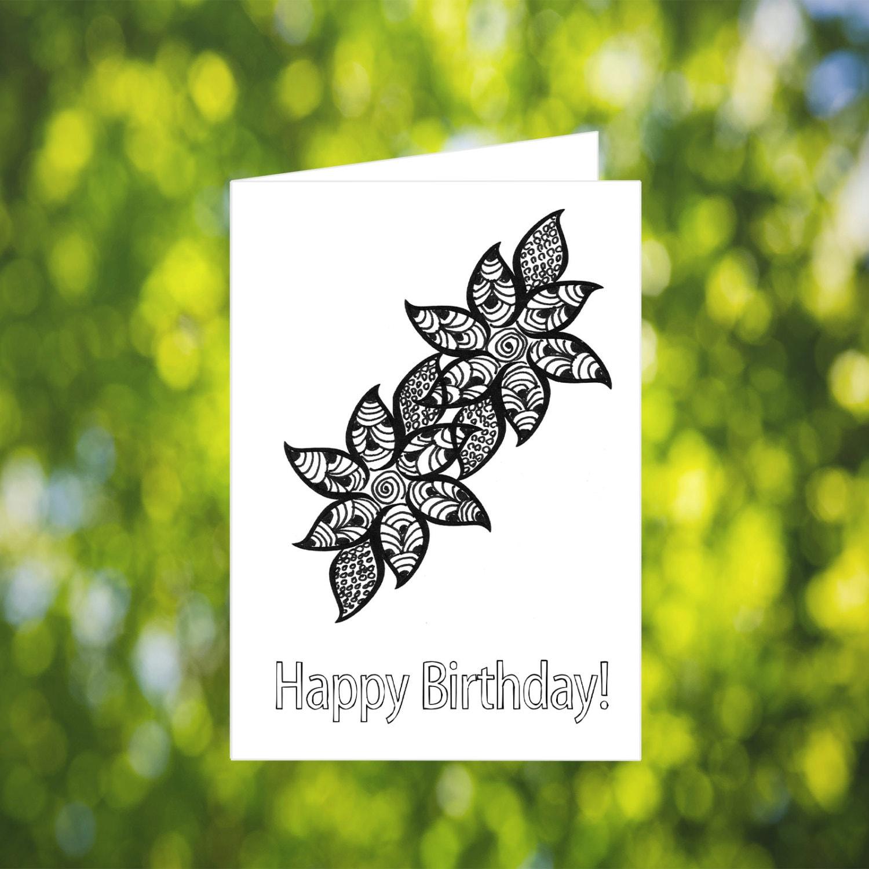 Wunderbar Geburtstagskarte Färbung Ideen - Malvorlagen Von Tieren ...