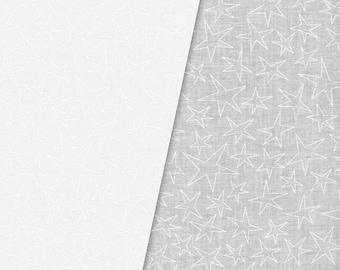 White on White Stars Quilt Fabric, Maywood Studios Solitaire Whites V, MAS 209-UW Ultra, White Quilt Fabric, White Stars Fabric, Cotton