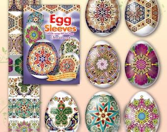 Ornament #13 Easter Egg Sleeves  Pysanka Shrink Wraps Pisanky