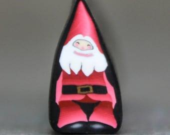 MINI Santa Claus Polymer Clay Cane (51A)