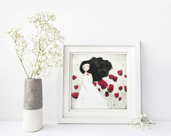 Poppies 8/50 (Second Edition) - Deluxe Edition Print - Whimsical Art