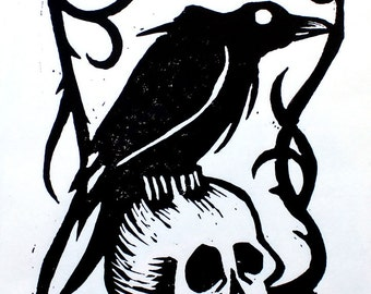 The Raven - Edgar Allen Poe Inspired Artwork