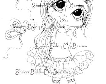 INSTANT DOWNLOAD Digital Digi Stamps Big Eye Big Head Dolls Digi  Bestie Remix 2 Dragonfly By Sherri Baldy