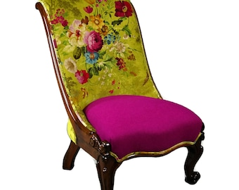 SOLD   Antique Victorian Brazilian Rosewood Ladies Chair - SOLD