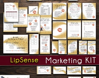 LipSense Marketing Kit, LipSense Ultra Value Bundle Pack, LipSense Business Cards, Printable Digital Files, LipSense Dark Floral