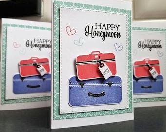 Wedding Card, Honeymoon Gift, Happy Honeymoon Card, Bon Voyage Card, Congratulations on Your Wedding